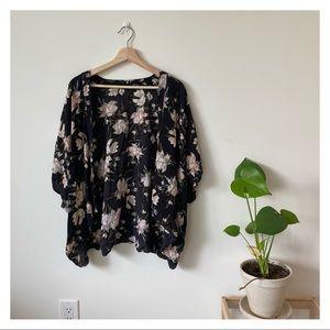 Talula Fawkner Kimono Cardigan Shawl Floral